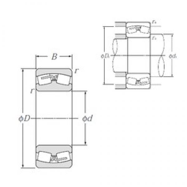 560 mm x 820 mm x 258 mm  NTN 240/560B Spherical Roller Bearings #3 image